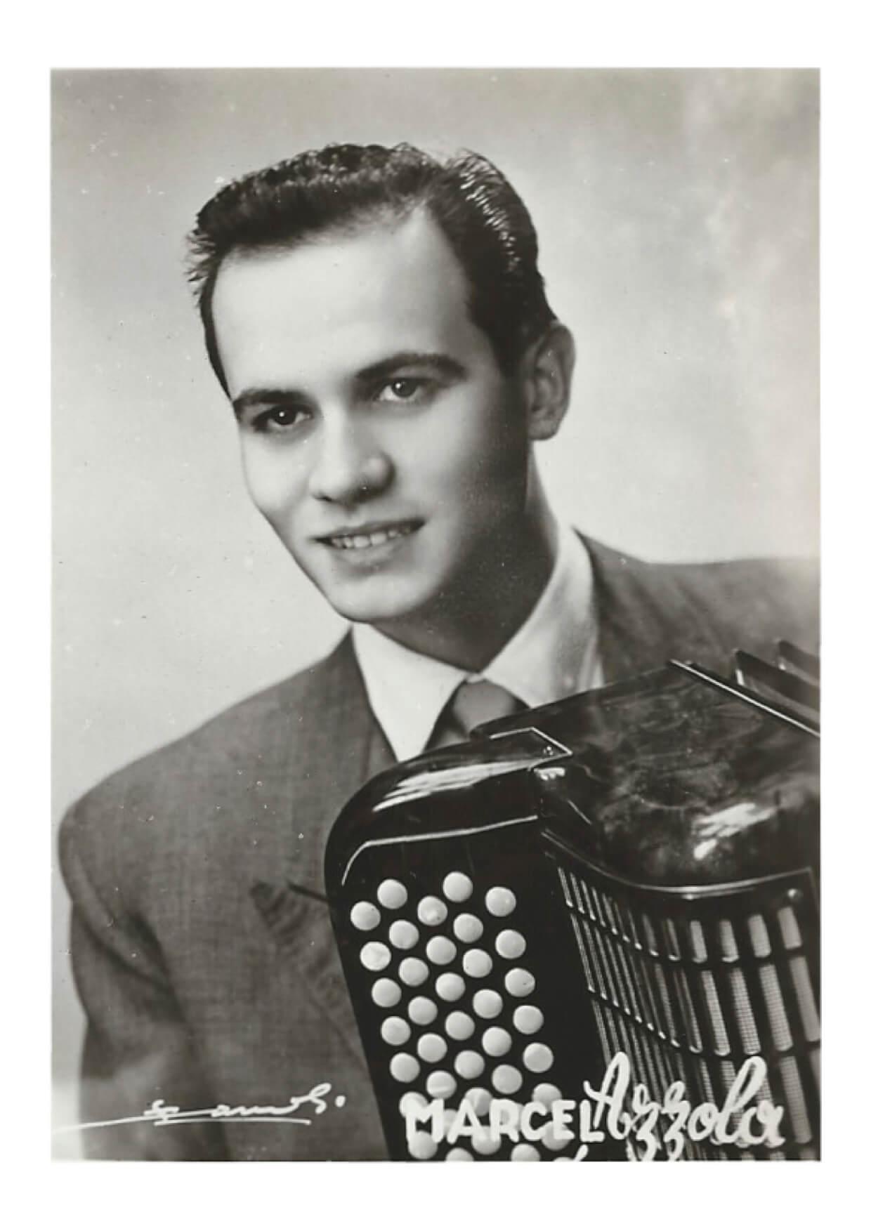 Marcel Azzola jeune musicien