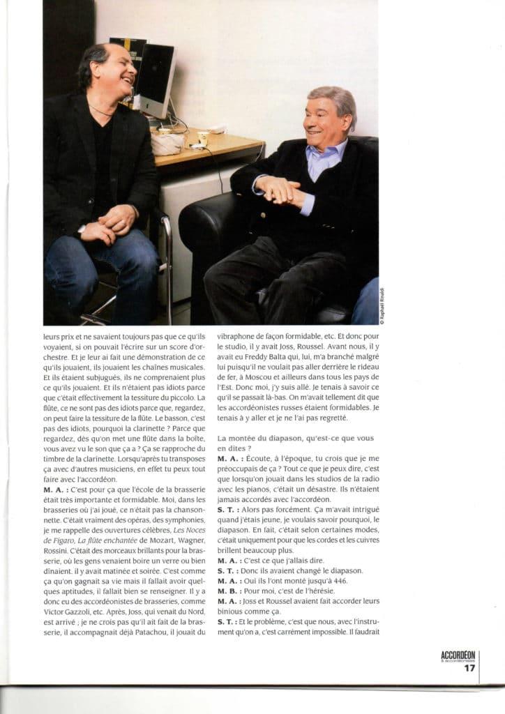 interview Marcel Azzola accordéon accordéonistes n°119 page 8