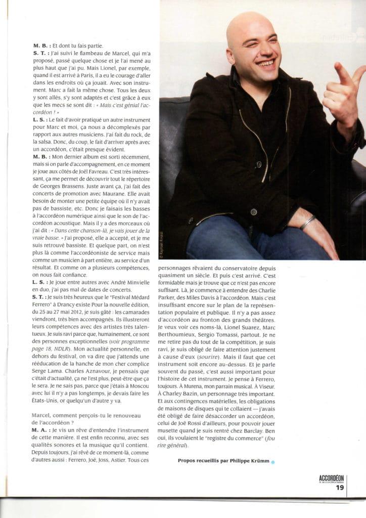 dernière page de l'interview Marcel Azzola accordéon accordéonistes n°119