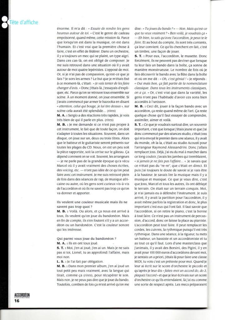 page 7 interview accordéon accordéonistes n°119