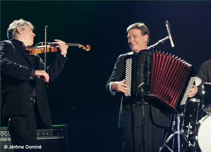 Les victoires du Jazz 2006 ‡ Deauville. Didier Lockwood et Marcel Azzola.
