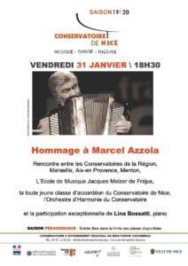 Concert Hommage à Marcel Azzola @ AUDITORIUM du Conservatoire de Nice
